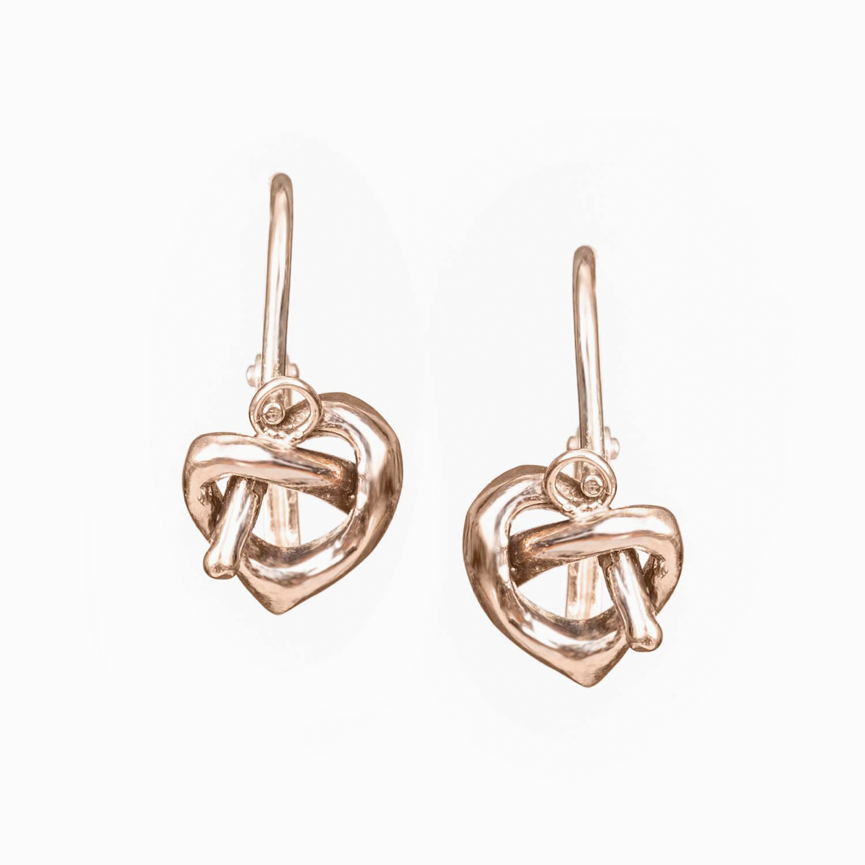 Knot hearts náušnice – 27jewelry 240a61904a9
